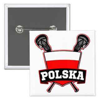 Polski Poland Lacrosse Pin