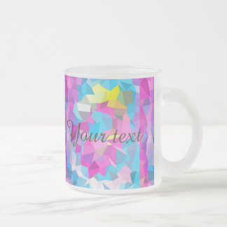 poly hot pink,graphic design,modern,trendy,girly,c frosted glass mug