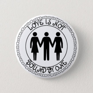 Poly Man 6 Cm Round Badge