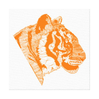 Poly Tiger. Canvas Print