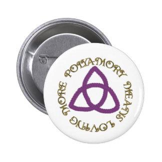 Poly Trinity 6 Cm Round Badge