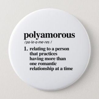 Polyamorous Definition - Defined LGBTQ Terms - 10 Cm Round Badge