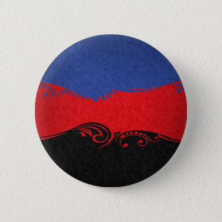 Polyamorous Ornamental Flag 6 Cm Round Badge