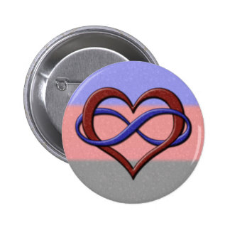 Polyamorous Pride Infinity Heart 6 Cm Round Badge