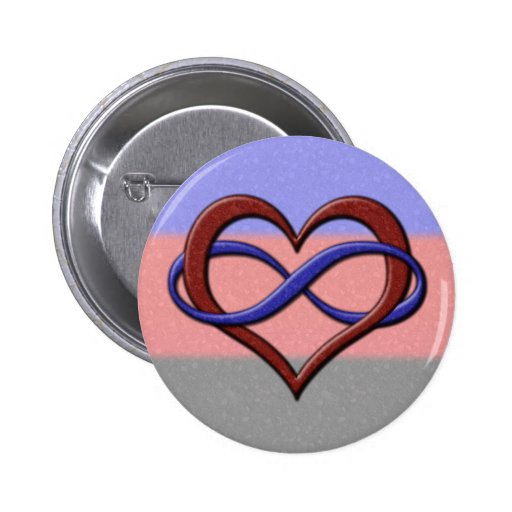 Polyamorous Pride Infinity Heart Buttons