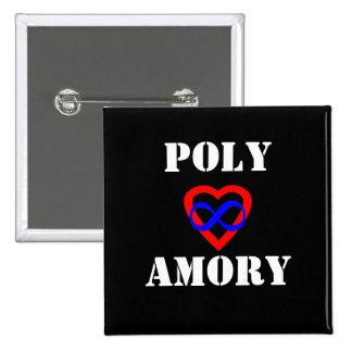 Polyamory 15 Cm Square Badge