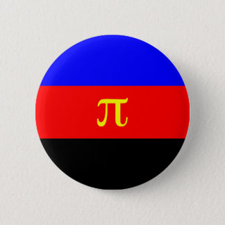 Polyamory Flag -- Pi 3-color 6 Cm Round Badge