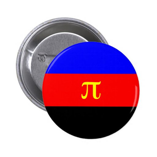 Polyamory Flag -- Pi 3-color Pinback Button