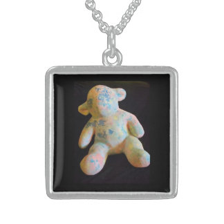Polychrome Lamb Sterling Silver Pendant/Necklace Sterling Silver Necklace