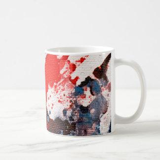 Polychromoptic #15A by Michael Moffa Basic White Mug