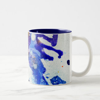 Polychromoptic #1B by Michael Moffa Two-Tone Mug
