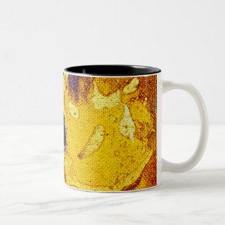 Polychromoptic #3 by Michael Moffa Two-Tone Mug