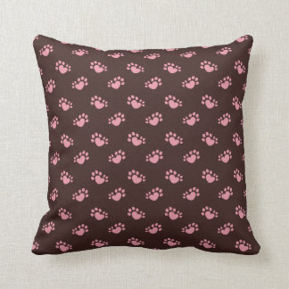 Polydactyl Cat Paw Print Heart Cushion