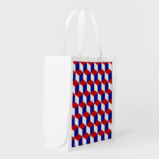 Polyester Bag - Red White and Blue illusion