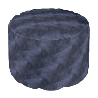 Polyester brushed resistant Round Thump Denim Pouf