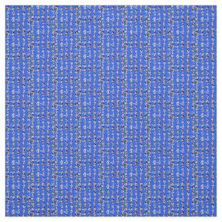 Polyester Fabric Blue multi custom