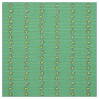 Polyester fabric  green floral custom