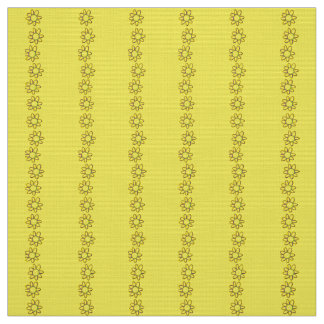 Polyester fabric  yellow floral custom