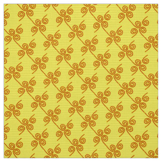 """Polyester Fabric yellow red """"ropes"""" custom"""