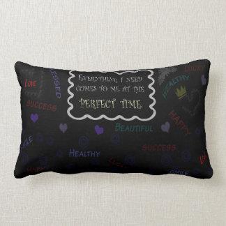"""Polyester Lumbar Pillow-affirmation 13"""" x 21"""" Lumbar Cushion"""