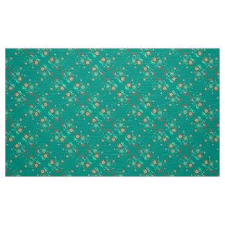 Polyester Poplin  fabric turquois red blue  custom