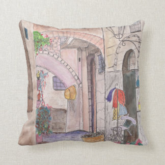 Polyester throw Pillow 16x16 watercolor original