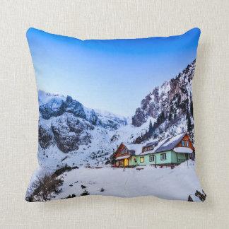 Polyester Throw Pillow, Malaiesti, Bucegi mountain Cushion