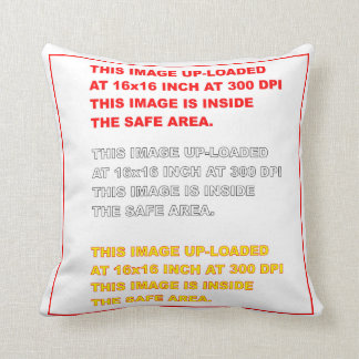 "Polyester Throw Template 16"" x 16""  35 Colors Plus Throw Pillow"