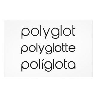 Polyglot Polyglotte Polyglota Multiple Languages Custom Stationery