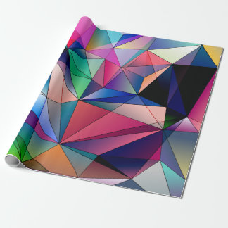 Polygon Diamonds Geometric Background Wrapping Paper