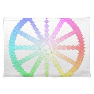 polygon evolution wheel geometry placemat