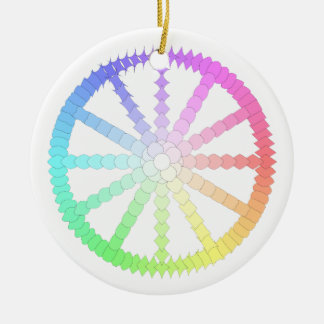 polygon evolution wheel geometry round ceramic decoration