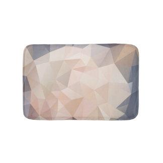 Polygon Geometric Abstract Bath Mat Gray Blush