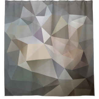 Polygon Geometric Abstract Shower Curtain