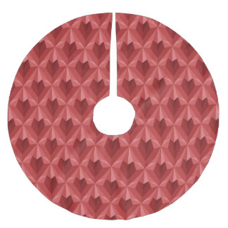 Polygon Heart Brushed Polyester Tree Skirt