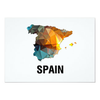Polygon Mosaic Map of Spain Card