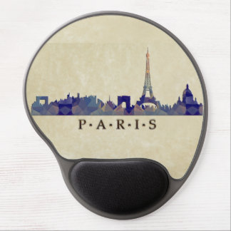 Polygon Mosaic Skyline of Paris Gel Mousepads