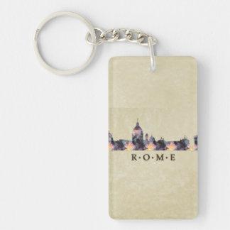 Polygon Mosaic Skyline of Rome Acrylic Keychain