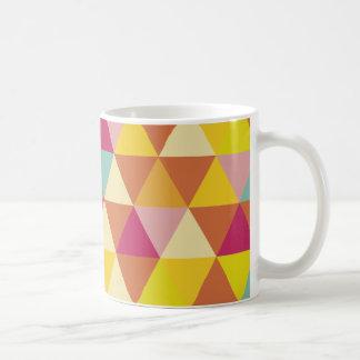 Polygon Multi color Triangles in Geometrical Shape Basic White Mug