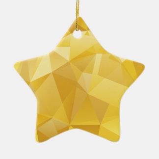 polygon pattern ceramic ornament