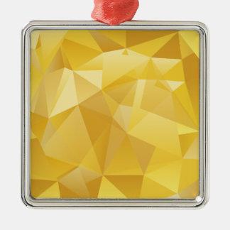 polygon pattern metal ornament