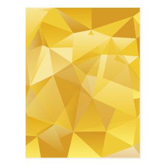 polygon pattern postcard