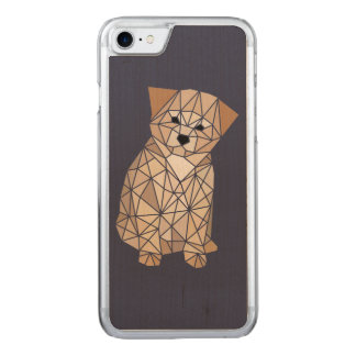 Polygon Puppy Carved iPhone 7 Case