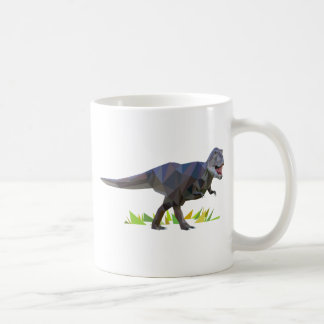 polygon trifishes graphic kind tyrannosarus rex coffee mug