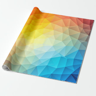 Polygonal pattern design on wrapping paper