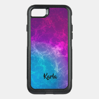 Polygonal Purple & Blue Geometric Background OtterBox Commuter iPhone 8/7 Case