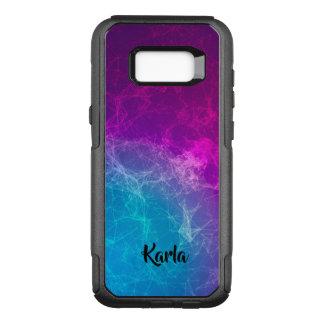 Polygonal Purple & Blue Modern Design OtterBox Commuter Samsung Galaxy S8+ Case