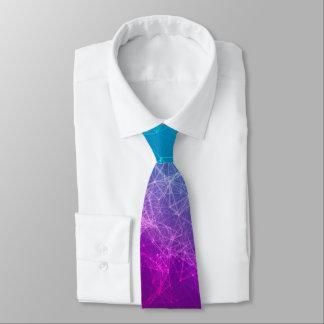 Polygonal Purple & Blue Ombre Tie