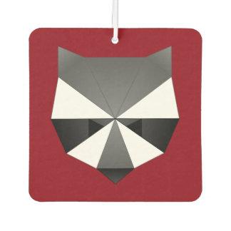 Polygonal Raccoon Car Air Freshener