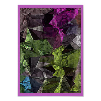 Polygonal Shiver Abstract Design Poster